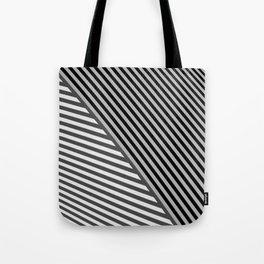 stripes. gray Tote Bag