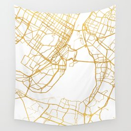MONTREAL CANADA CITY STREET MAP ART Wall Tapestry