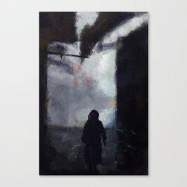 Street Lightning Canvas Print