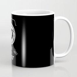 Anti-poaching Elephant for Wildlife Photographers White on Black Coffee Mug