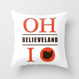 Believeland Throw Pillow
