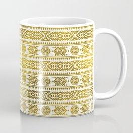Gold  Aztec Peruvian Tribal Pattern Coffee Mug