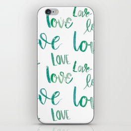 Love Lots- Turquoise iPhone Skin