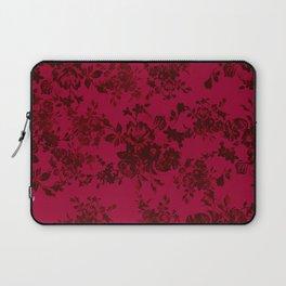Vintage black gray red bohemian floral pattern Laptop Sleeve