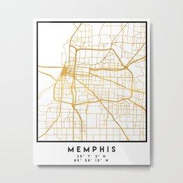 MEMPHIS TENNESSEE CITY STREET MAP ART Metal Print