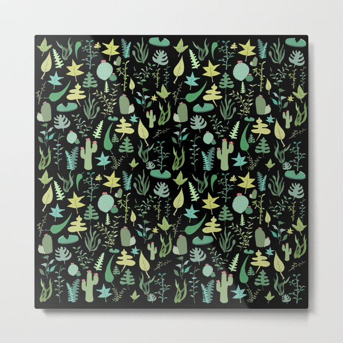 black green garden Metal Print