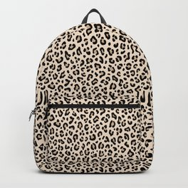 BLACK and WHITE LEOPARD PRINT – Ecru | Collection : Leopard spots – Punk Rock Animal Prints. Backpack