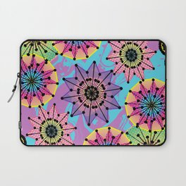 Vibrant Abstract Floral Pattern Laptop Sleeve