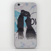 okay iPhone & iPod Skins featuring Okay.  by Oksana's Art