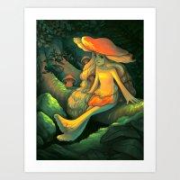 Fungi Tales Art Print