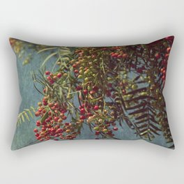 Grunge garden berries Rectangular Pillow