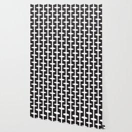 Geometric Pattern 207 (black white) Wallpaper