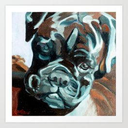 Smokey the Boxer Dog Art Print