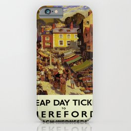 retro Tickets to Hereford iPhone Case