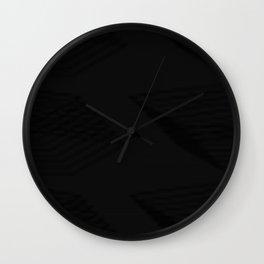 Stretchedpentagonlinedbkgrd Wall Clock