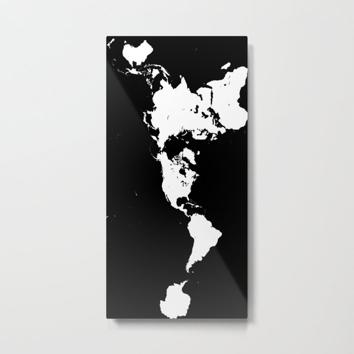 Dymaxion world map fuller projection map minimalist white on dymaxion world map fuller projection map minimalist white on black metal print gumiabroncs Images