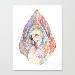 Swan Totem Canvas Print