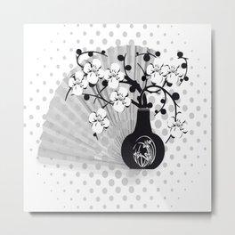 Stillleben Kirschblüten Metal Print