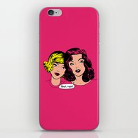 gossip girl iPhone & iPod Skins featuring Gossip by Sarinya  Withaya