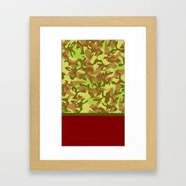 Burgundy Cammo Framed Art Print