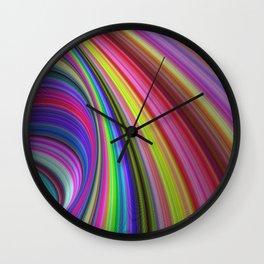 Rainbow vortex Wall Clock