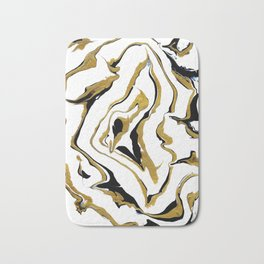 Gold And Black Opulence Bath Mat