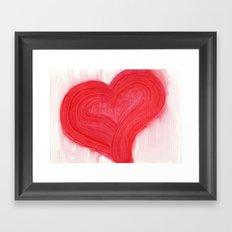 a simple red heart Framed Art Print