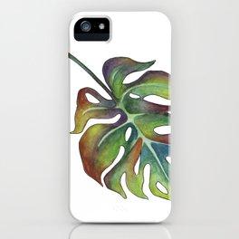 Monstera deliciosa iPhone Case