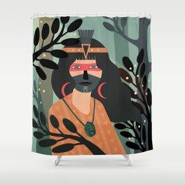 Jade Warrior Shower Curtain