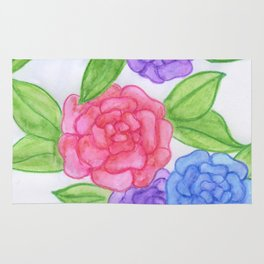 Watercolor Flowers Rug