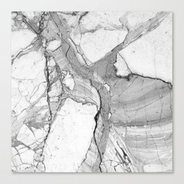 Grey Marble Canvas Print