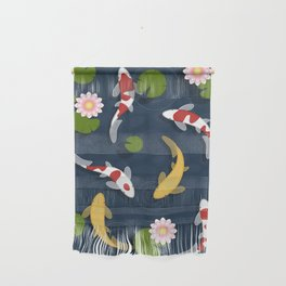 Japanese Koi Fish Pond Wall Hanging