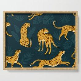 Leopard pattern Black Serving Tray
