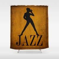 jazz Shower Curtains featuring Jazz by Eleanor Rose