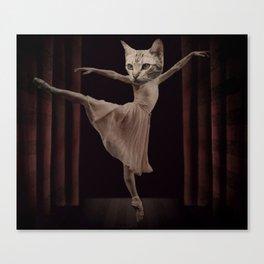 Ze Cat Bellarina Canvas Print
