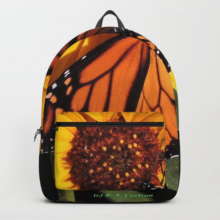 Monarch on a Desert Sunflower Backpack