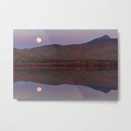 Autumn Mountain Moonrise Metal Print