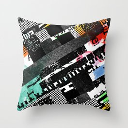colored photocopy Throw Pillow