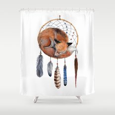 Fox Dreamcatcher Shower Curtain