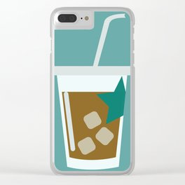 Iced Coffee Clear iPhone Case