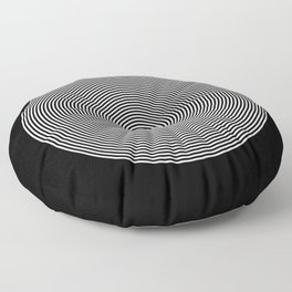 Hypnotic Circles optical illusion Floor Pillow