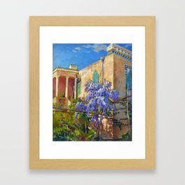 Constantin Alexandrovitch Westchiloff A House with Flowering Trees along the Amalfi Coast of Italy Framed Art Print