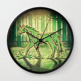 Swamp Unicorn Wall Clock