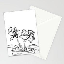 Mason Jar Flowers Stationery Cards
