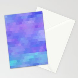 Athena abstract geometric in purple, aqua Stationery Cards