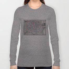 Vintage Map of Alabama and Georgia (1862) Long Sleeve T-shirt