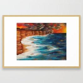 Moroccan Sea Spray Framed Art Print