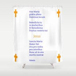 Ave Maria Latin version 2 Shower Curtain