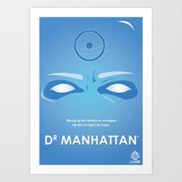 Vector Dr Manhattan Art Print