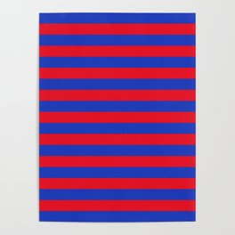 Blue and Red Stripes Poster